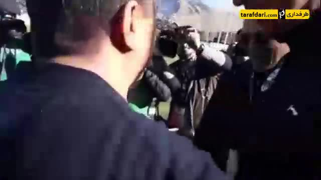 آشتی مهدی رحمتی و امیر قلعه نوعی پیش از دیدار ذوب آهن و استقلال