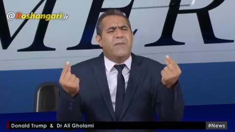 مناظره علی غلامی با ترامپ !!