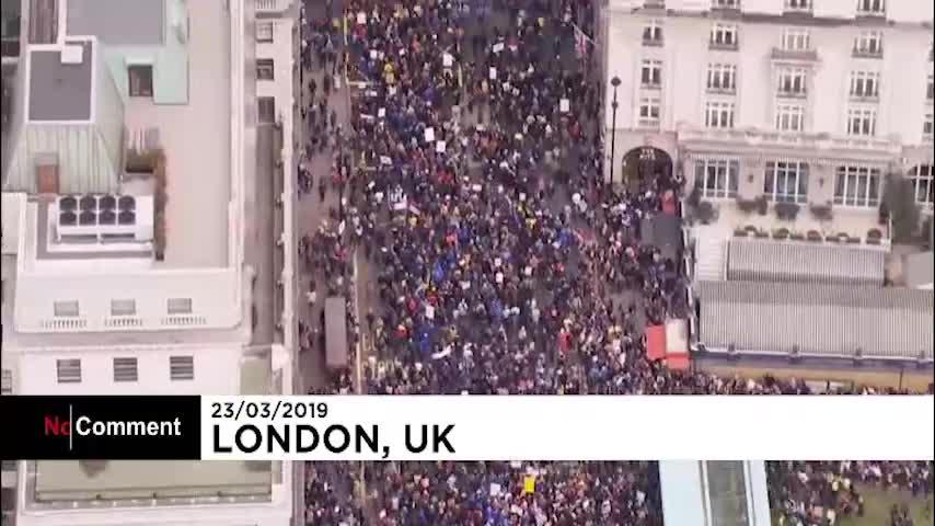 بزرگترین راهپیمایی ضد برکزیت در لندن