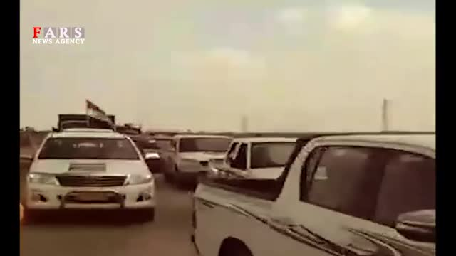 ورود موکبهای عراقی از مرز شلمچه برای امدادرسانی به مردم خوزستان
