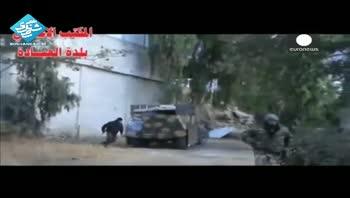 صحنه انفجار خودروی بمب گذاری شده در سوریه
