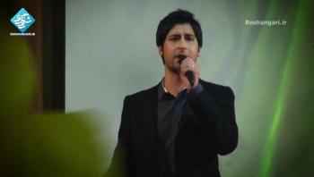 سرود مرگ بر آمریکا   اجرای زنده حامد زمانی در همایش حزب الله سایبر