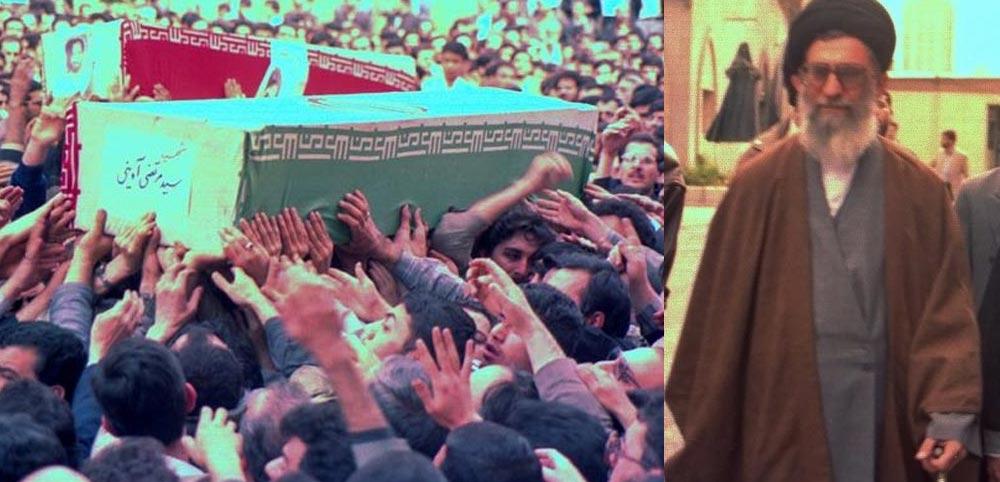 تشیع پیکر شهید آوینی با حضور رهبرانقلاب