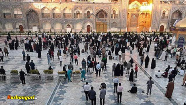 لحظه ی زیبا و احساسی بازگشایی درب های حرم امام رضا علیه السلام