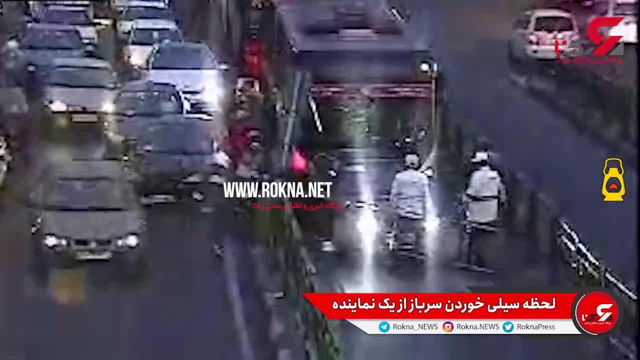ویدیوی دوربین مداربسته که ناجا از لحظه درگیری عنابستانی با سرباز راهور منتشر کرد