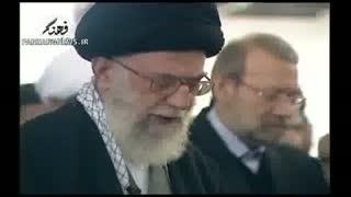 اقامه نماز رهبر انقلاب بر پیکر آیت الله خوشوقت
