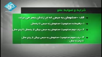 عفو و تخفیف مجازات تعدادی از محکومان به مناسبت عید فطر