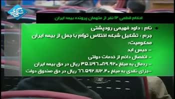 احکام قطعی 12 نفر از متهمان پرونده بیمه ایران