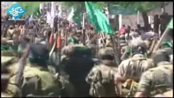 رژه مبارزان فلسطینی