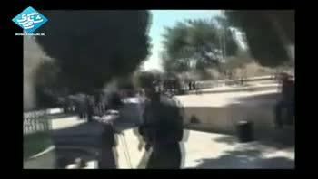 حمله چکمه پوشان صهيونيست به مسجد الاقصي