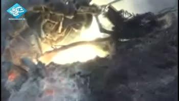 بالگرد سوري هدف جنگنده ترکيه اي