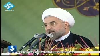 روحانی: جنگ و دیپلماسی بر روی یک میز قرار نمیگیرد
