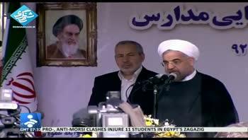 دکتر روحانی: در مدارس برای آینده ایران تلاش کنید