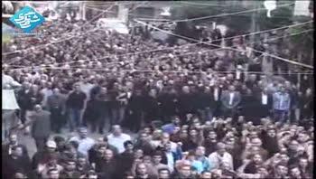 تشیع شهدای حمله ی تروریستی در لبنان