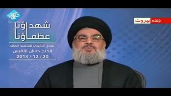 سید حسن نصرالله: آمار کشته های پر شمار حزب الله در سوریه دروغ است