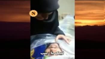 وداع مادر شهید با فرزندش علی رعد