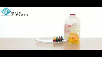 آزمایشات علمی/ایجاد رنگین کمان در شیر