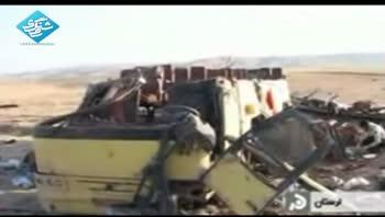 واژگونی اتوبوس زائران عراقی