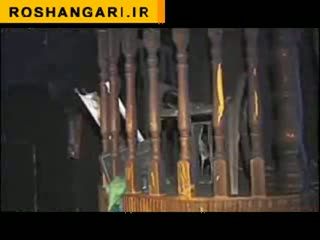 تصاوير به آتش كشيدن مسجدي در نابلس توسط صهيونيستها