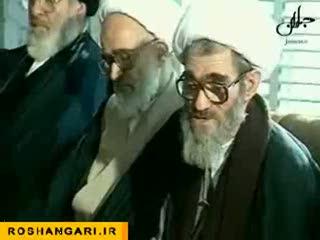 فیلم پخش نشده از مراسم لاک و مهر وصیت نامه امام خمینی (ره)