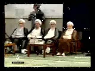 دیدار رهبر انقلاب اسلامی با رئیس و جامعه مدرسین حوزه علمیه قم