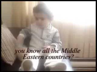 نظر بچه ۲ ساله درباره موجودیت اسرائیل
