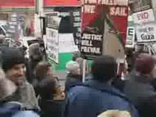 تظاهرات ضد صهییونیستی در لندن