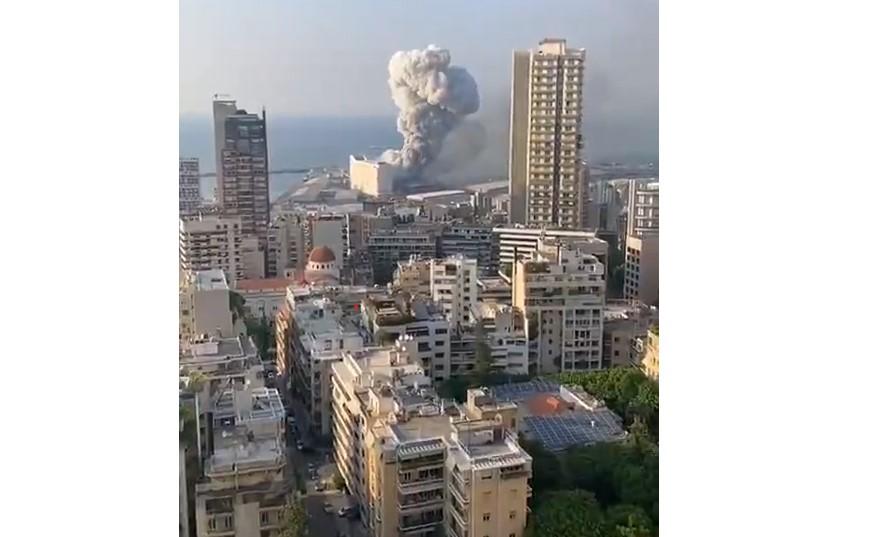 ویدئویی واضح و هولناک از لحظه انفجار در بیروت