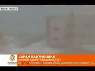 لحظات شروع سونامی در ژاپن