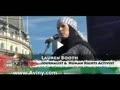 سخنراني خواهرزن توني بلر در راهپيمايي روز قدس در لندن