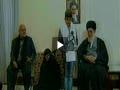 پسر شهید قشقایی در حضور امام خامنه ای